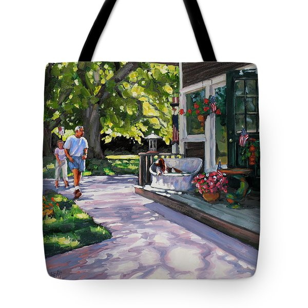 Summer Day On The Cape Tote Bag by Laura Lee Zanghetti