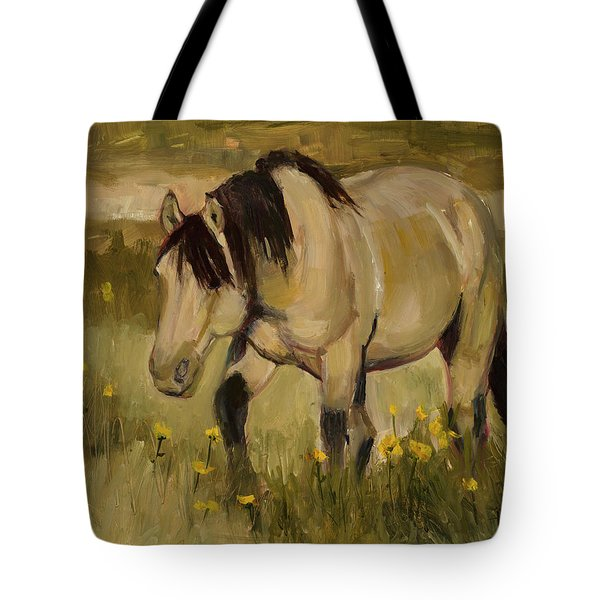 Tote Bag featuring the painting Summer Days by Billie Colson