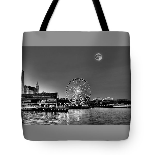 Summer Eve On The Seattle Waterfront Tote Bag