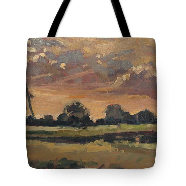 Summer Evening In The Polder Tote Bag