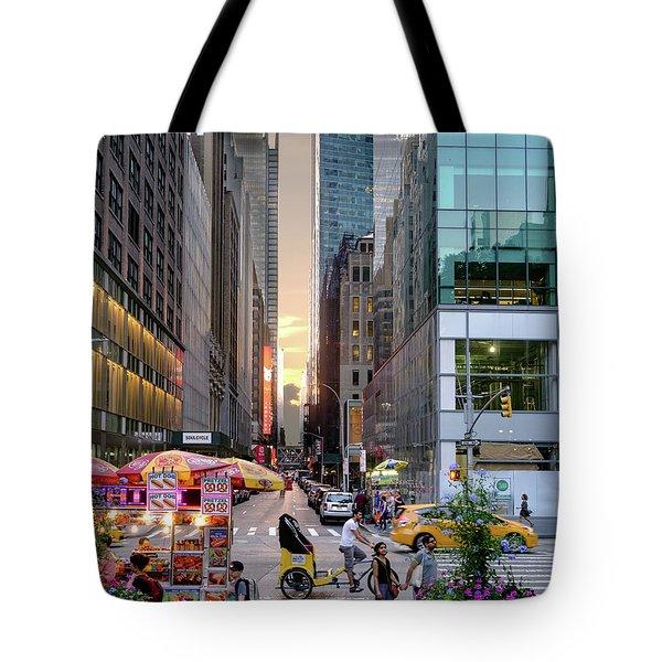 Summer Evening, New York City  -17705-17711 Tote Bag