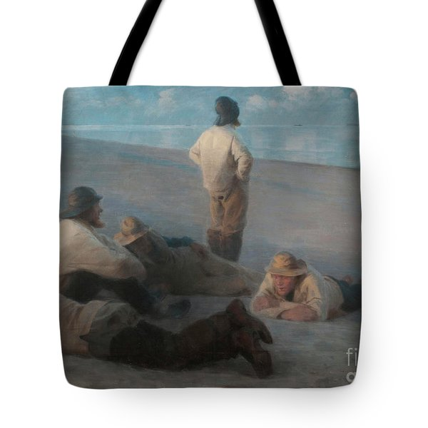 Summer Evening On The Beach At Skagen, 1884  Tote Bag