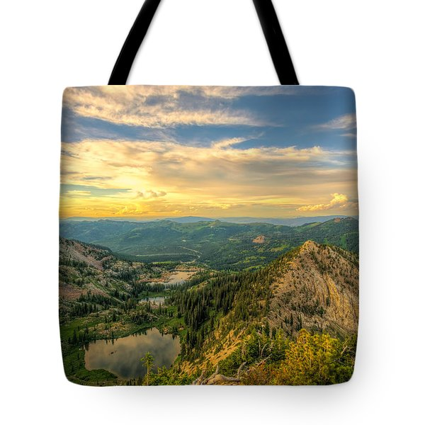 Summer Evening View From Sunset Peak Tote Bag