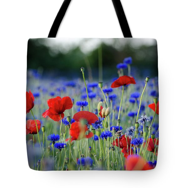 Tote Bag featuring the photograph Summer Feeling Flowers by Kennerth and Birgitta Kullman