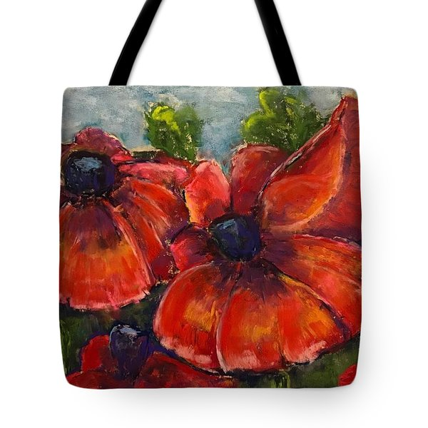 Summer Field Of Poppies Tote Bag