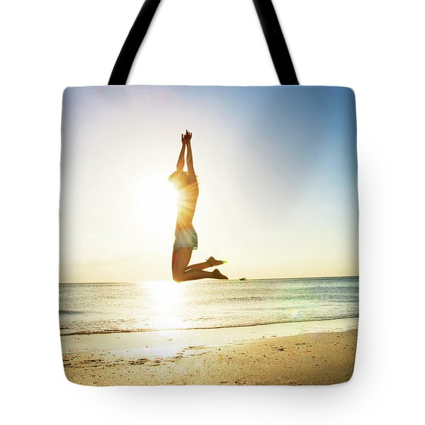 Summer Fitness Girl Tote Bag