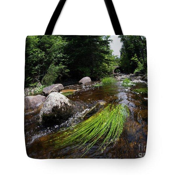 Summer Flow Of Water Near Rangeley Maine  -63322 Tote Bag