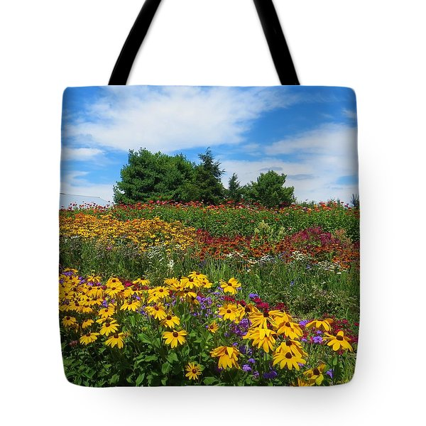 Tote Bag featuring the photograph Summer Flowers In Pa by Jeanette Oberholtzer