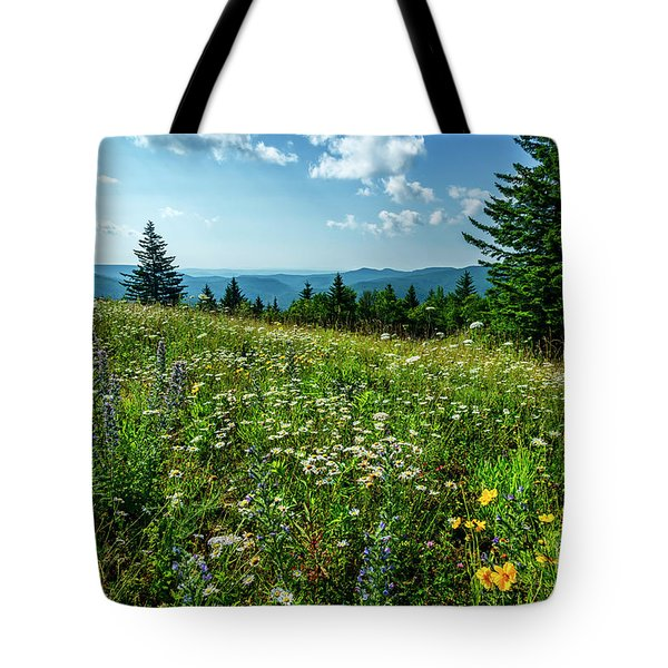 Summer Flowers In The Highlands Tote Bag