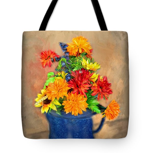 Summer Flowers Tote Bag by Mary Timman