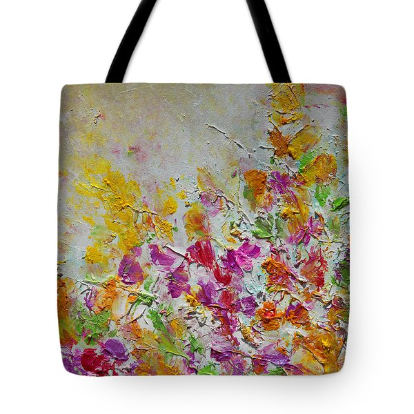 Summer Fragrance Abstract Painting Tote Bag