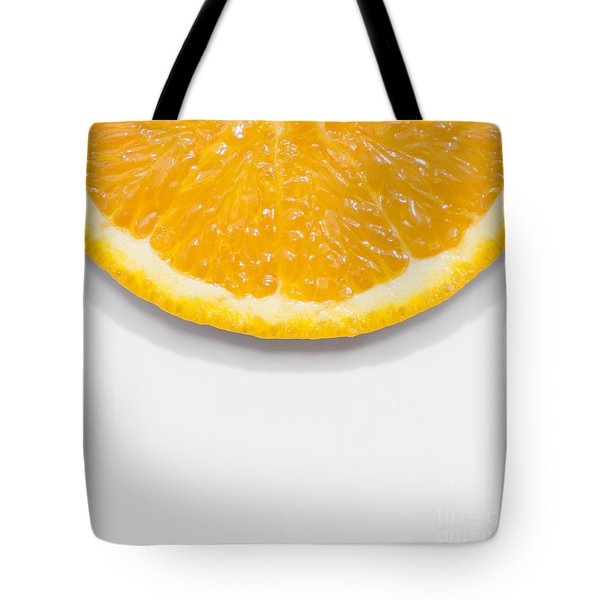 Summer Fruit Orange Slice On Studio Copyspace Tote Bag
