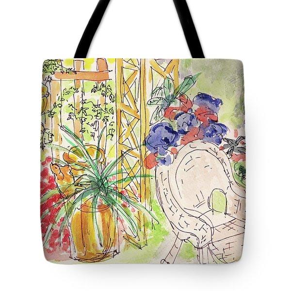 Summer Garden Tote Bag by Barbara Anna Knauf