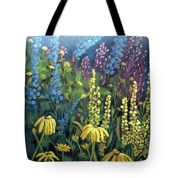 Tote Bag featuring the painting Summer Garden by Susan  Spohn