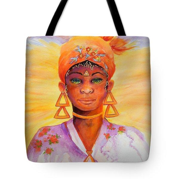 Summer Goddess Tote Bag