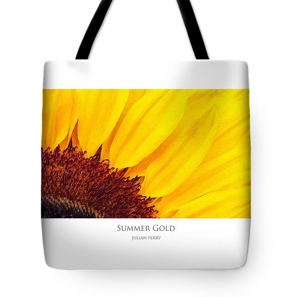 Tote Bag featuring the digital art Summer Gold by Julian Perry