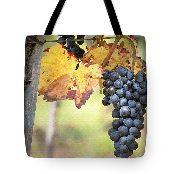 Summer Grapes Tote Bag by Sharon Foster