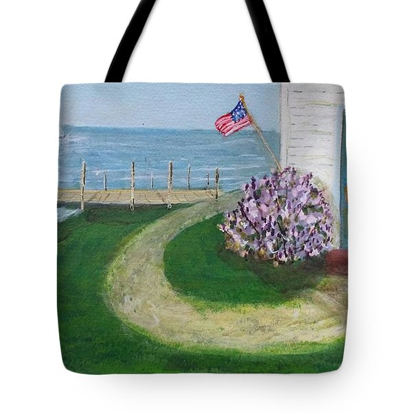 Summer Home In Maine Tote Bag