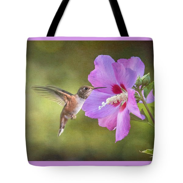 Summer Humming Tote Bag by Angie Vogel
