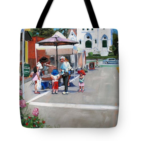 Summer In Hingham Tote Bag by Laura Lee Zanghetti