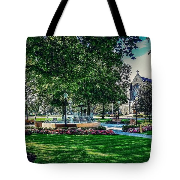 Tote Bag featuring the photograph Summer In Juckett Park by Kendall McKernon