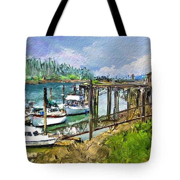Summer In La'conner Tote Bag by Dale Stillman