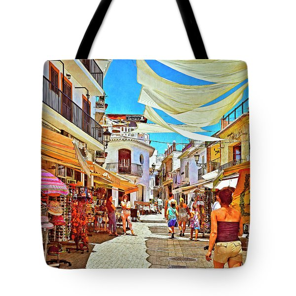 Tote Bag featuring the photograph Summer In Malaga by Mary Machare