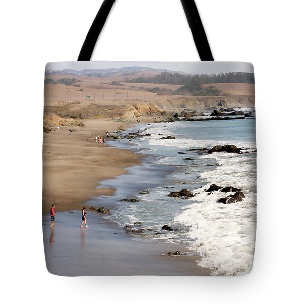 Tote Bag featuring the photograph Summer In San Simeon by Art Block Collections