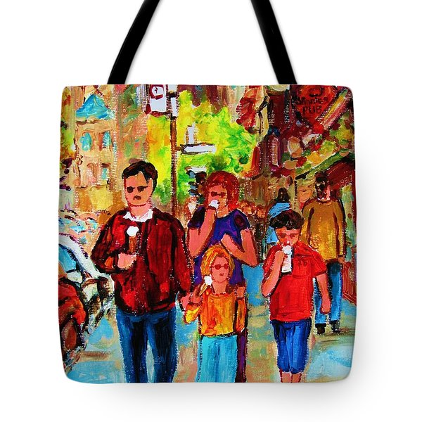 Summer In The City Tote Bag by Carole Spandau