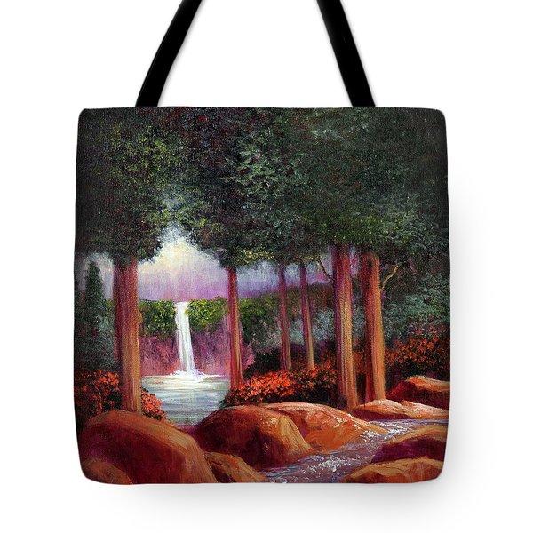 Summer In The Garden Of Eden Tote Bag by Randy Burns