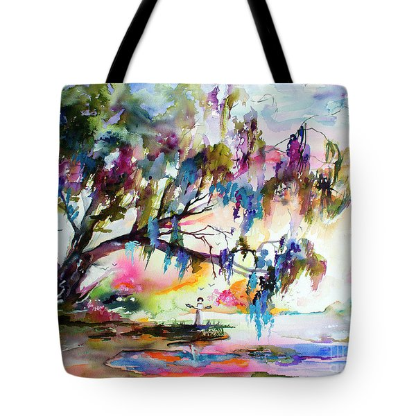 Summer In The Garden Of Good And Evil Watercolor Tote Bag