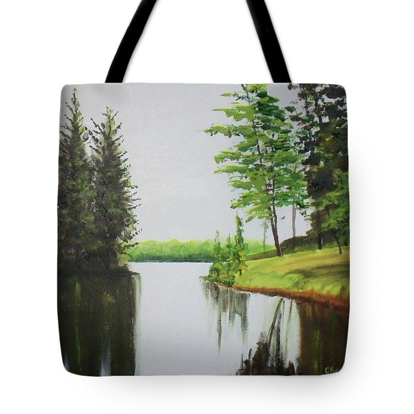 Summer Lake Tote Bag