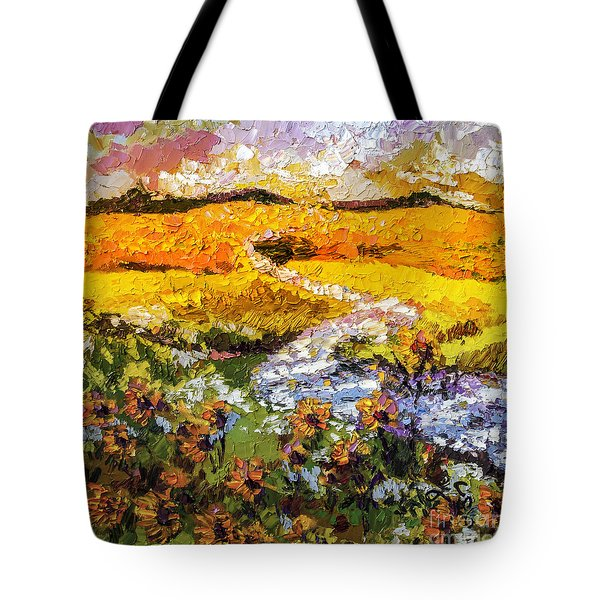Summer Landscape Sunflowers Provence Tote Bag