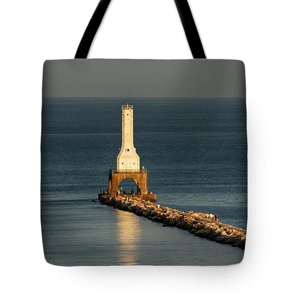 Summer Lighthouse Tote Bag