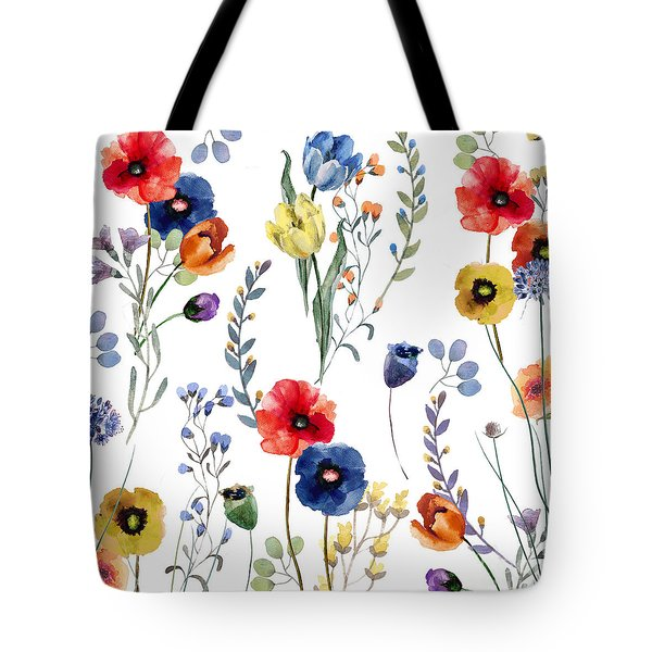 Summer Linen Tote Bag by Mindy Sommers