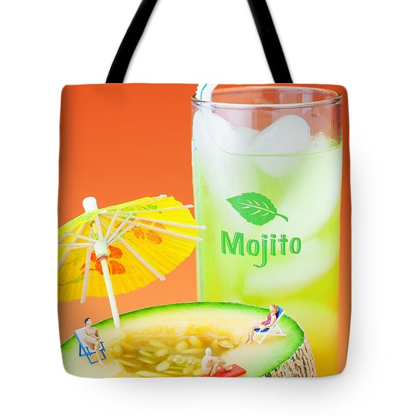 Tote Bag featuring the photograph Summer Memory Little People On Food by Paul Ge
