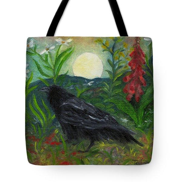 Summer Moon Raven Tote Bag