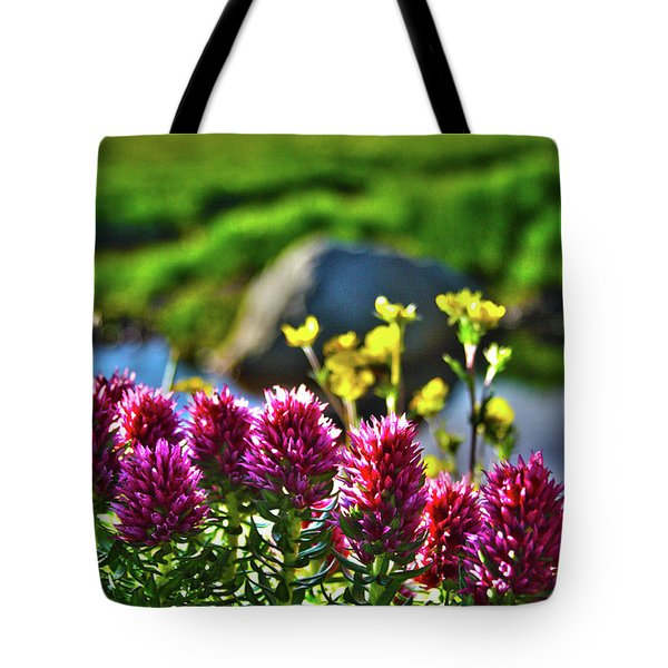 Tote Bag featuring the photograph Summer Morning Blossoms by Marie Leslie