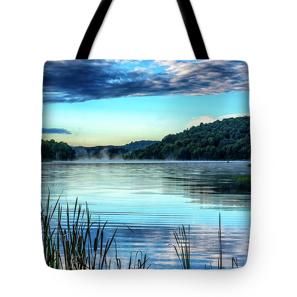 Summer Morning On The Lake Tote Bag by Thomas R Fletcher