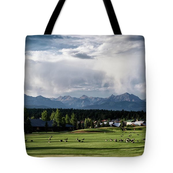 Summer Mountain Paradise Tote Bag