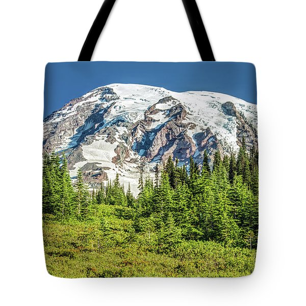 Tote Bag featuring the photograph Summer On Mount Rainier by Pierre Leclerc Photography