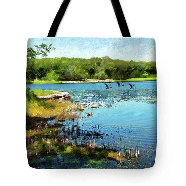Summer On The Lake Tote Bag