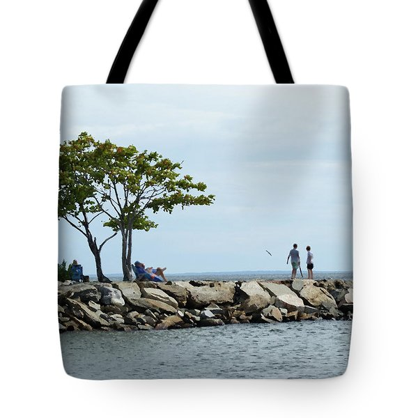 Summer On The Rocks Tote Bag