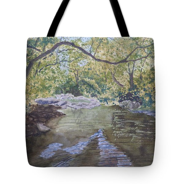 Tote Bag featuring the painting Summer On The South Tow River by Joel Deutsch