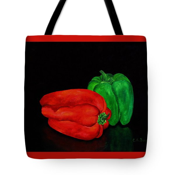 Summer Peppers Tote Bag
