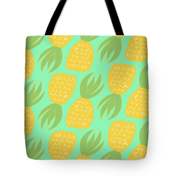 Summer Pineapples Tote Bag by Allyson Johnson