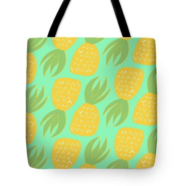 Summer Pineapples Tote Bag