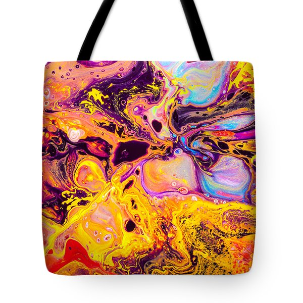 Summer Play  - Abstract Colorful Mixed Media Painting Tote Bag by Modern Art Prints