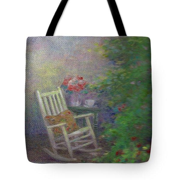Summer Porch And Rocker Tote Bag