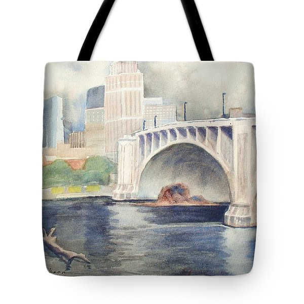 Tote Bag featuring the painting Summer Rain by Marilyn Jacobson